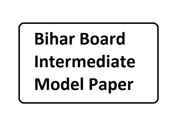 Bihar Board Inter Model Paper