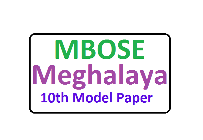 MBOSE 10th SSLC Important Question Paper 2020