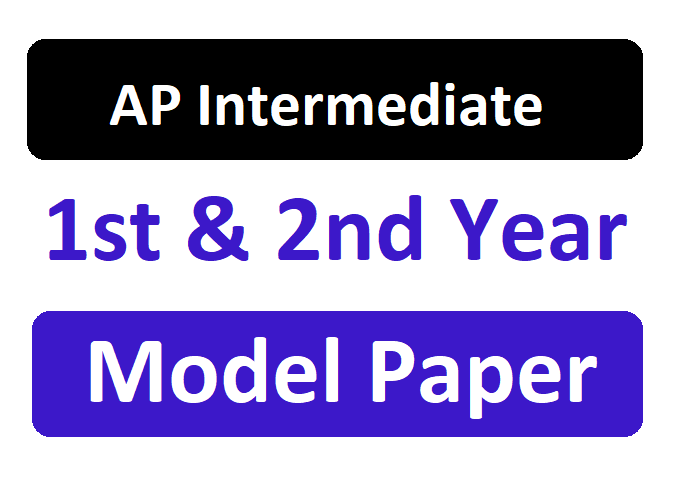 AP Inter 2nd Year Model Question Paper 2020
