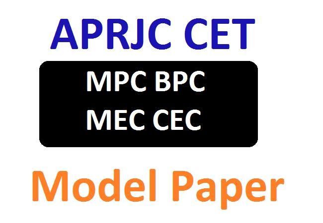 APRJC CET Model Paper 2020 MPC, BPC, MEC, CEC Exam Pattern & Details