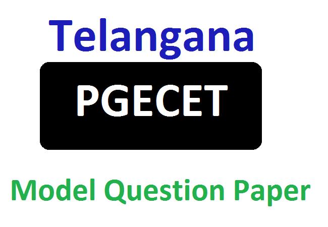 TS PGECET Model Question Paper 2020