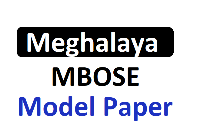 Meghalaya 12th Board Sample Papers 2020