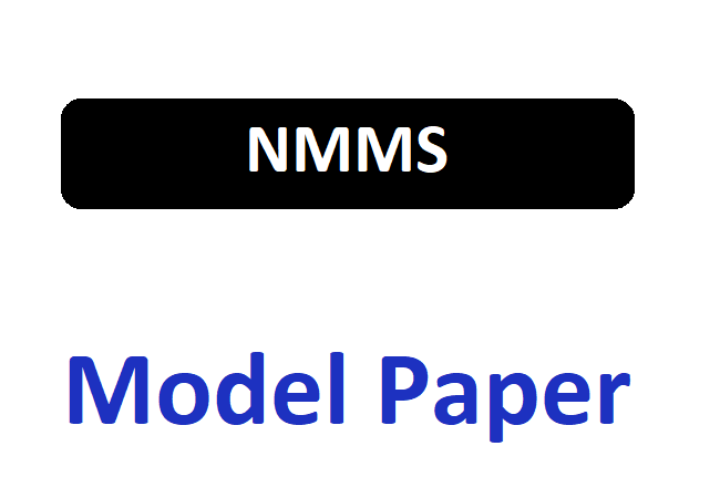 NMMS Model Question Paper 2020