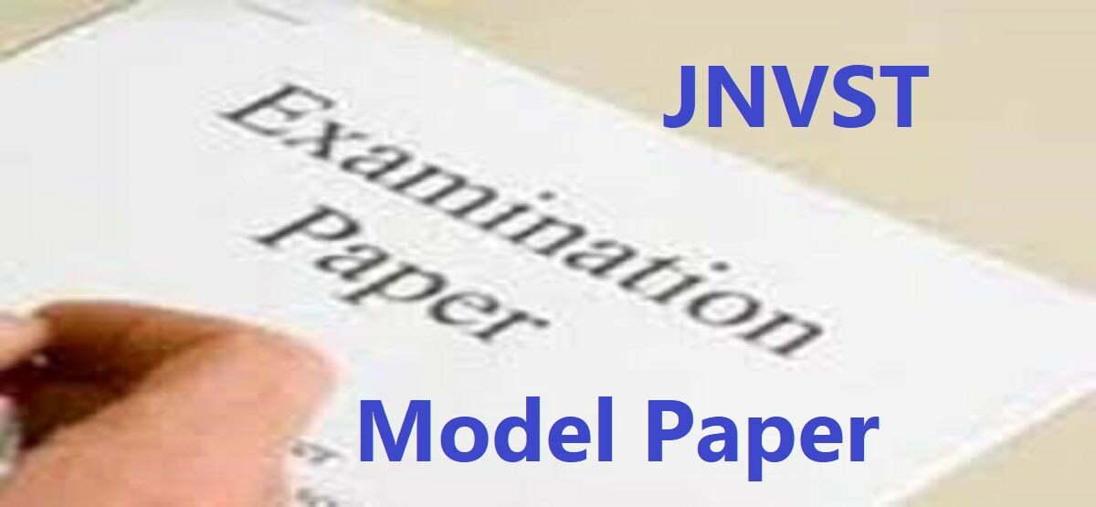 Navodaya Model Paper 2020 5th, 6th, 8th, 9th, English Hindi Urdu, PDF