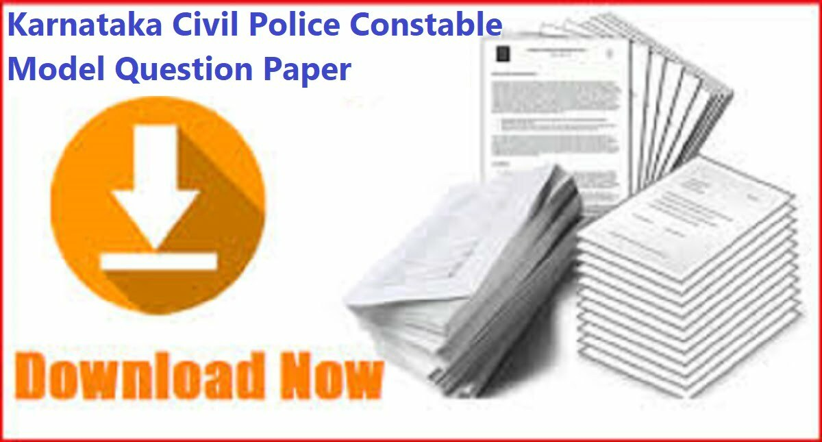Karnataka Civil Police Constable Model Question Paper 2020