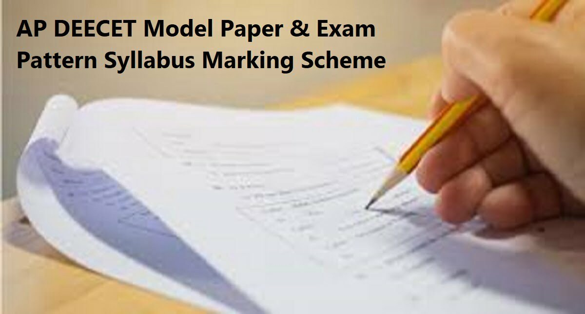 AP DEECET Model Paper Exam Pattern 2020 Syllabus Marking Scheme